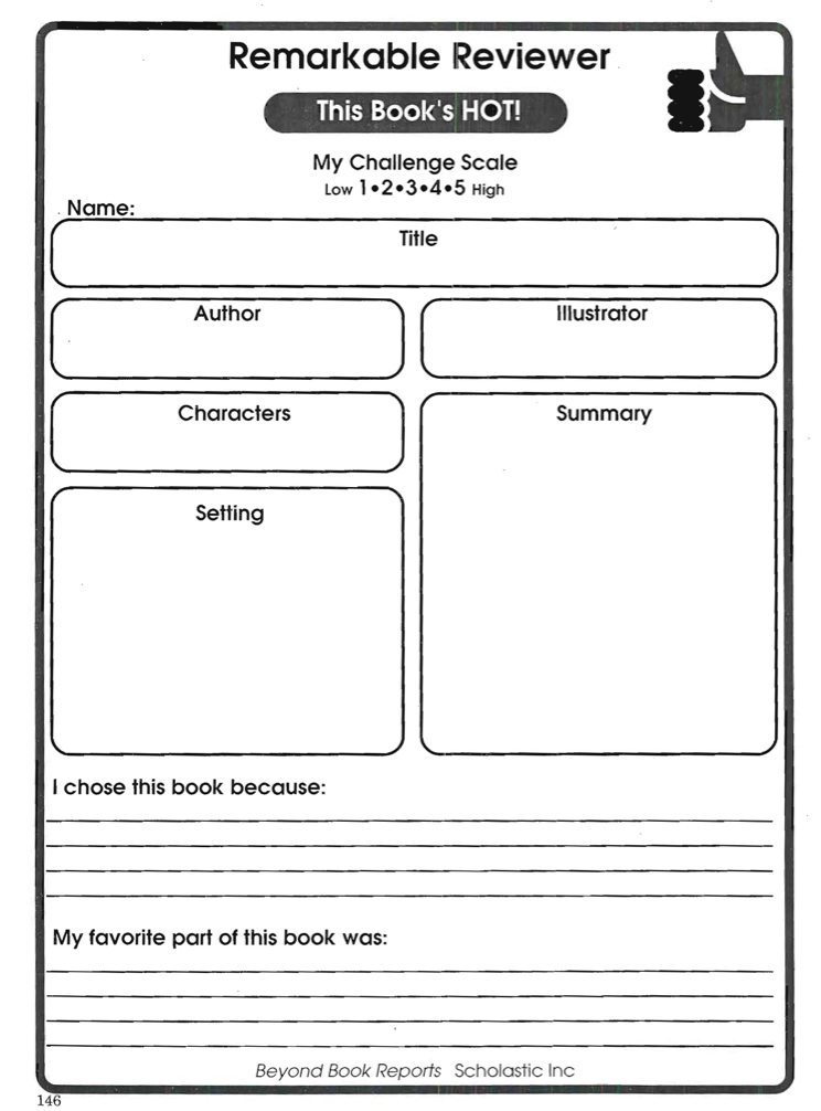 Book Recommendation Sheet 2 preview