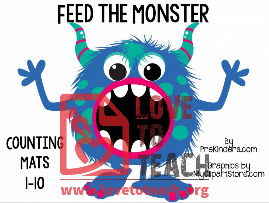 Feed the Monster : Free Printable Worksheets