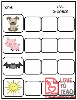 3 FREE Printable CVC Word Games