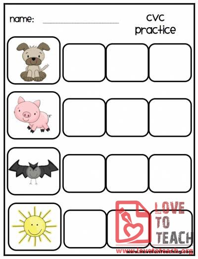 Printables Cvc Word Worksheets free printable worksheets for teachers parents tutors cvc word practice apple theme