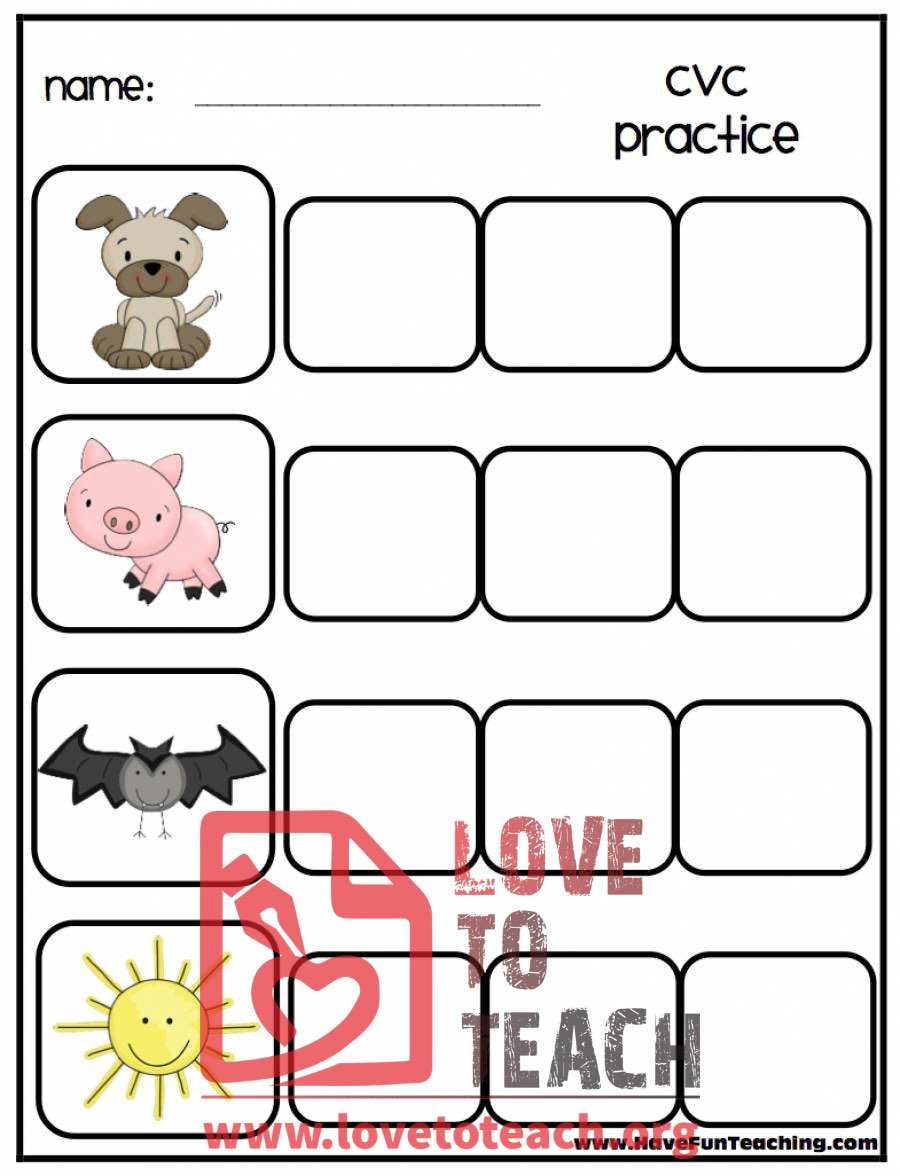 Free Printable Cvc Worksheets – Kindergarten Cvc Worksheets