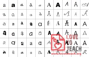 Aa to Zz Fun Fonts Sort