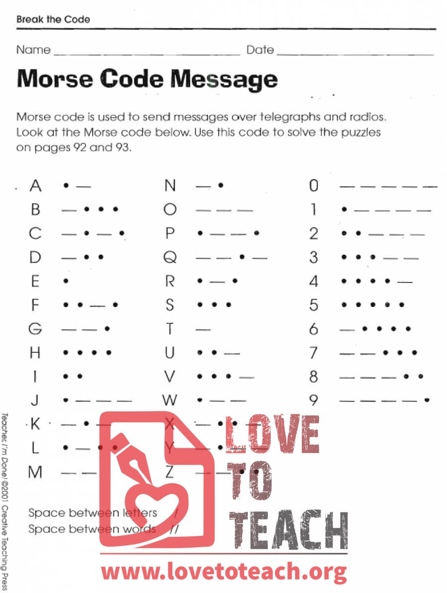 It's just a picture of Impertinent Printable Morse Code Chart