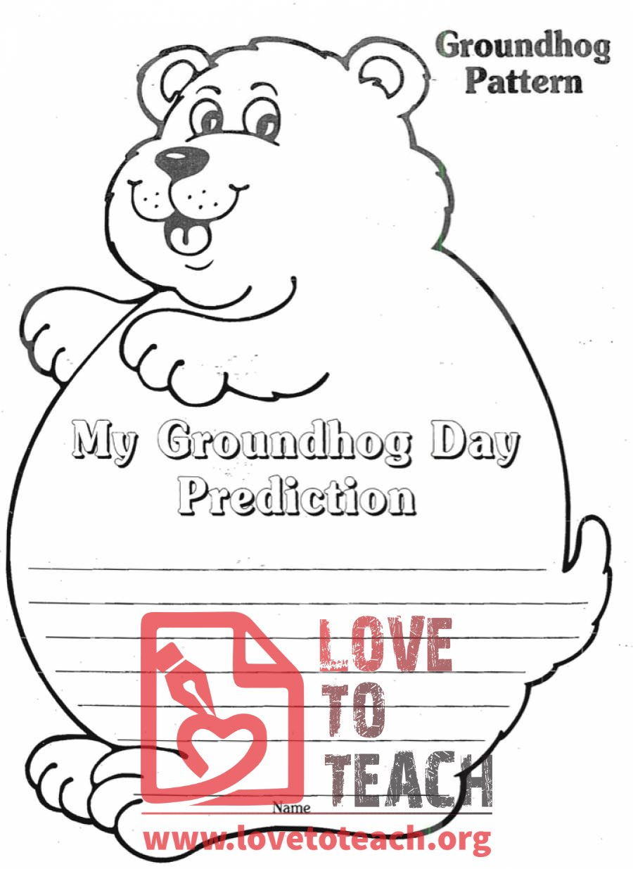 groundhog coloring pages preschool truck - photo#21