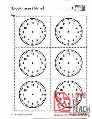 Analog Clock Faces (blank)