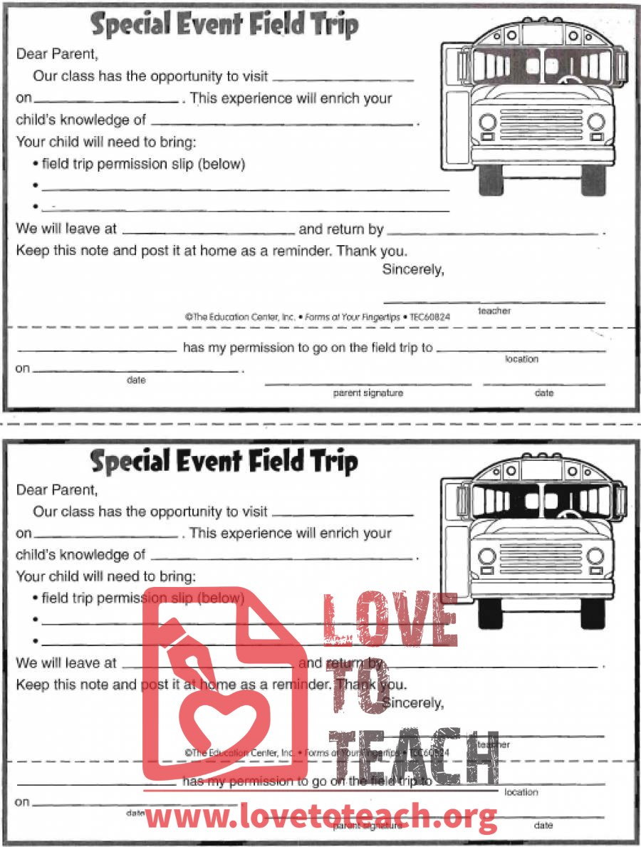 Revered image throughout printable permission slips for field trips