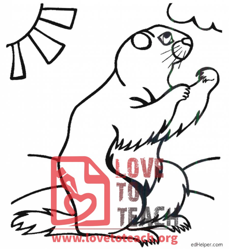 groundhog day coloring pages for preschoolers bluebonkers