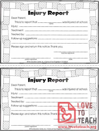 Injury Report Form