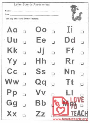 Letter Sounds Assessment