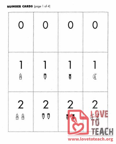Number Cards 0 to 10
