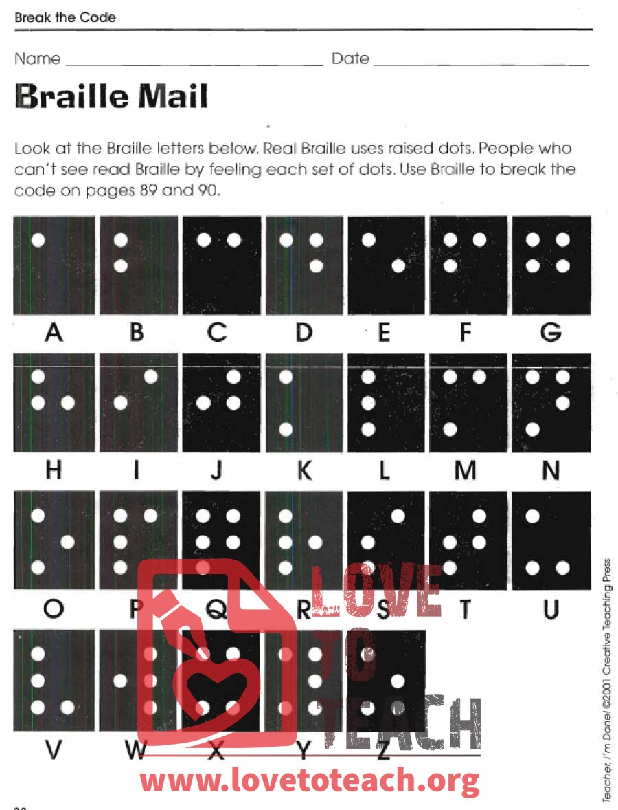 math worksheet : braille mail  break the code worksheets  free printable worksheets : Secret Code Math Worksheets