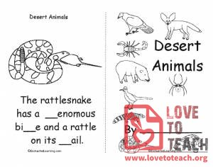 Desert Animals Book