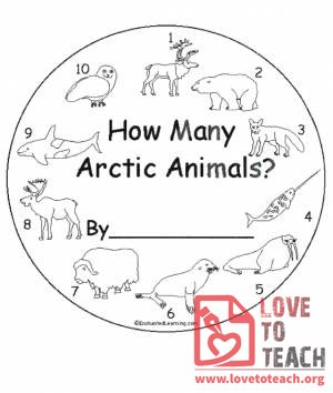How Many Arctic Animals Book