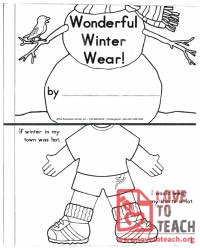 Wonderful Winter Wear Book