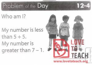Comparing Numbers - Problem of the Day
