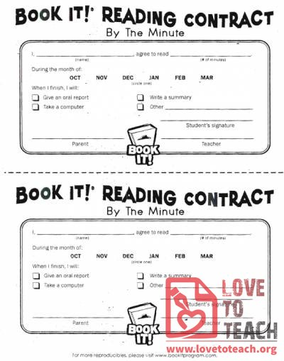 Book It Reading Contract: By the Minute
