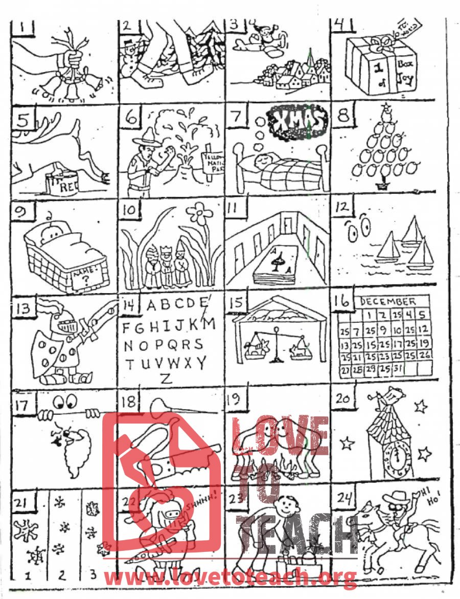 Christmas Rebus Puzzles | Free Printable Worksheets