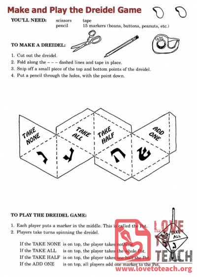 It's just an image of Dynamic How to Play the Dreidel Game Printable