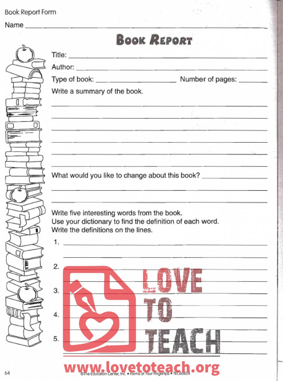 How to Write a Book Report in the 6th Grade