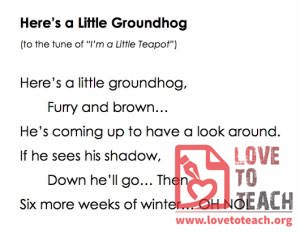 Here's a Little Groundhog Song