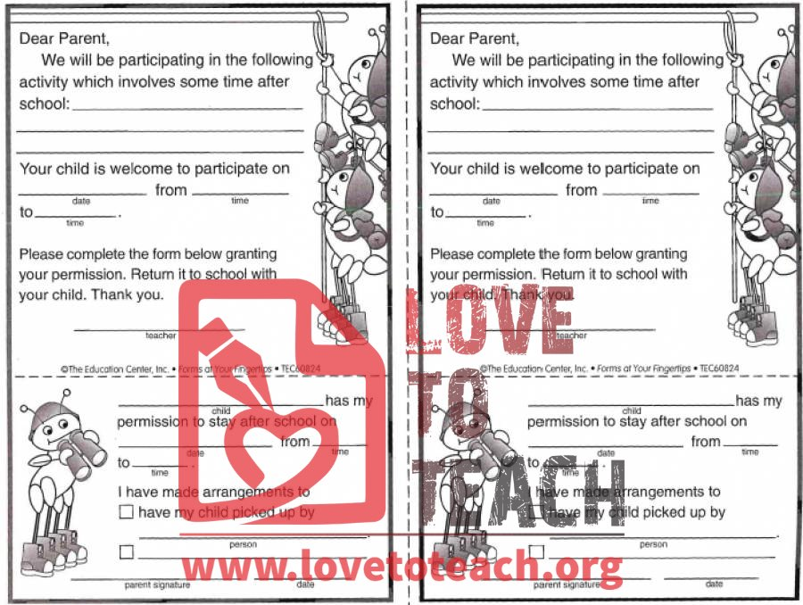 ... also After School Permission Slip. on pictograph worksheets easter