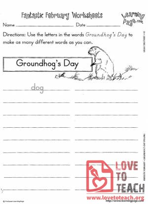 Displaying items by tag: Groundhog Day | LoveToTeach.org | Free ...