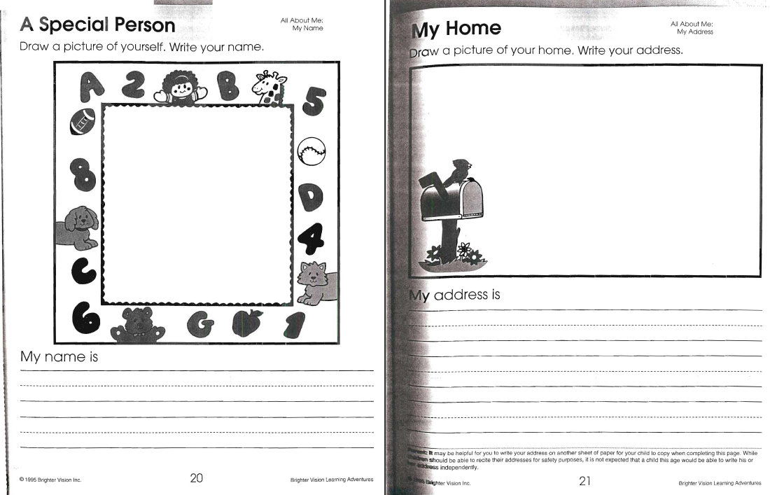 All About Me Worksheets additional screen shot