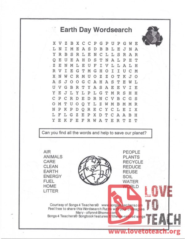 image relating to Earth Day Word Search Printable identify Environment Working day Phrase Glimpse