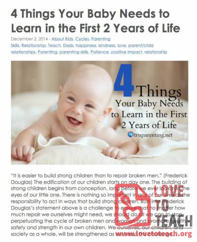 4 Things Your Baby Needs to Learn