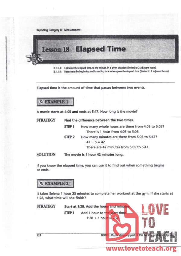 Elapsed Time Examples