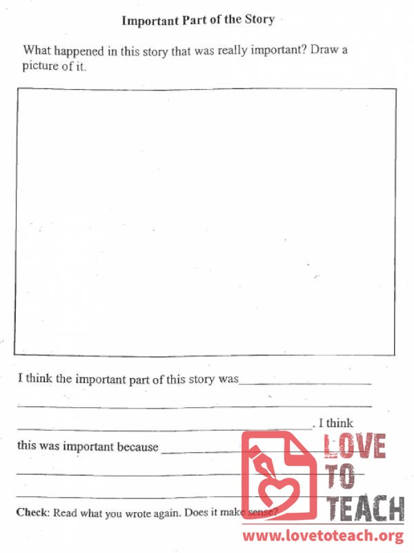 Important Part Worksheet