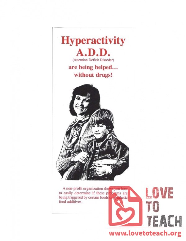 Hyperactivity ADD - Helped Without Drugs