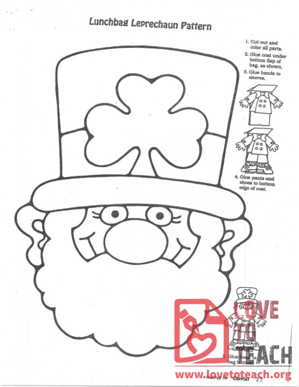 Lunchbag Leprechaun Pattern