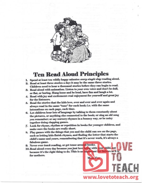 Ten Read Aloud Principles