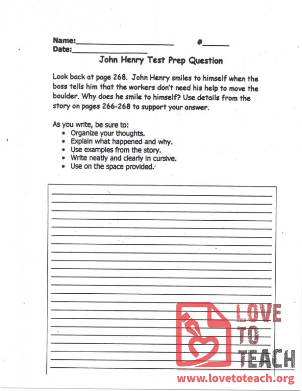 John Henry - Test Prep Question