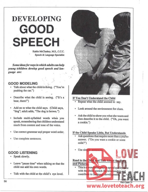 Developing Good Speech