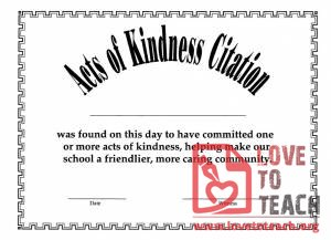 Act of Kindness Award