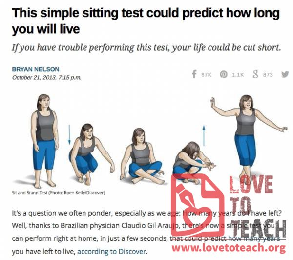 This Simple Sitting Test Could Determine How Long You Live