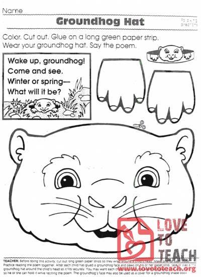 Groundhog Hat Lovetoteach Org Free Printable Worksheets