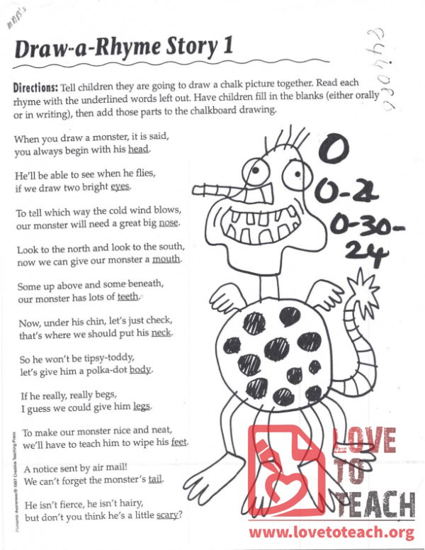 Draw-a-Rhyme Story