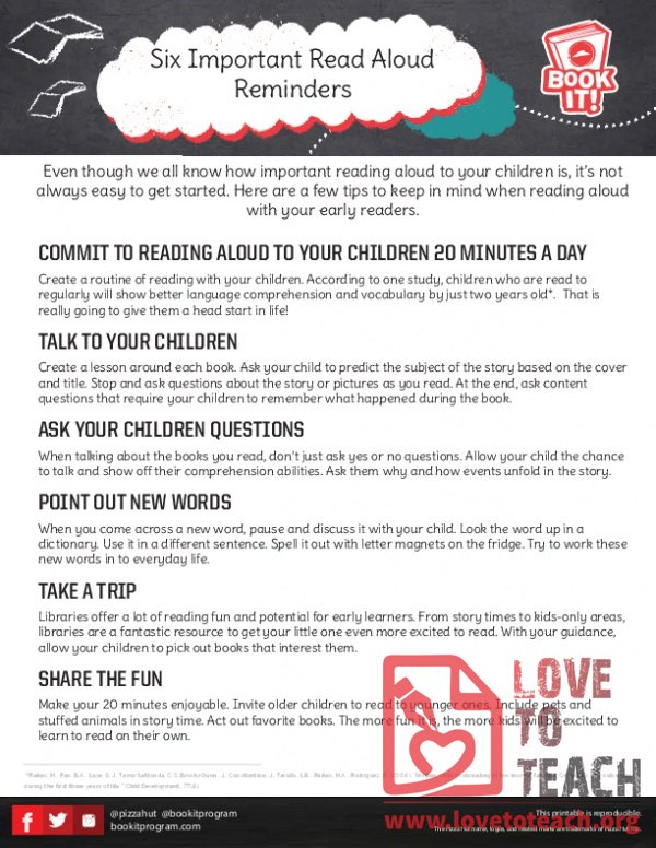 Read Aloud Reminders