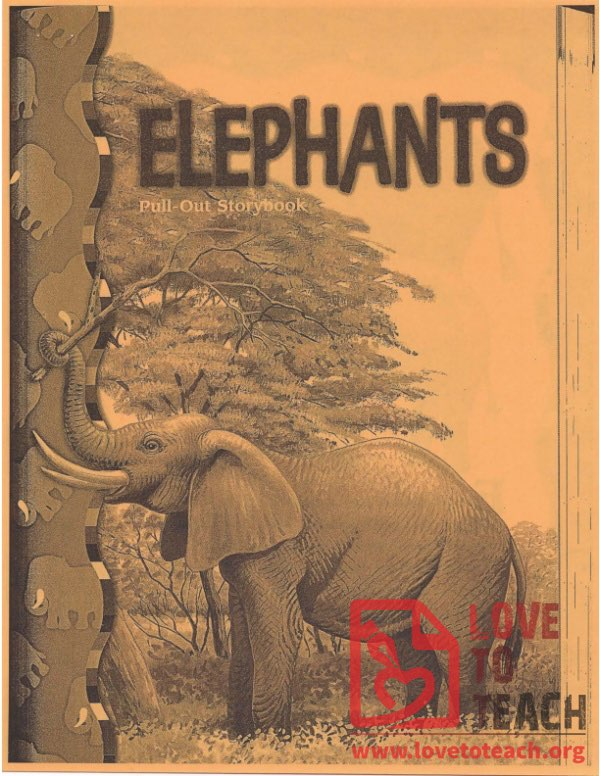 Elephants - Pull-Out Storybook