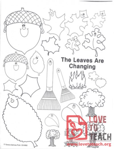 The Leaves Are Changing Coloring Page