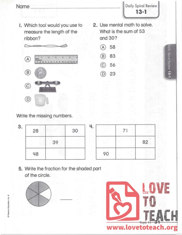 Mental Math, Measurement, Missing Numbers Review