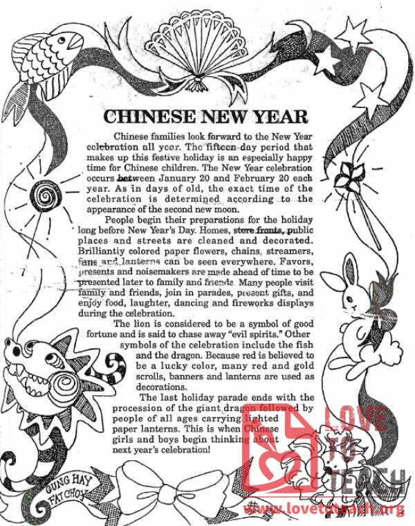 Chinese New Year Information | LoveToTeach.org