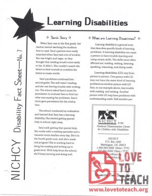 Ability Awareness - Learning Disabilities