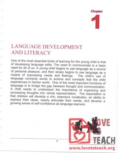 Preschool Curriculum Handbook - Language Development and Literacy