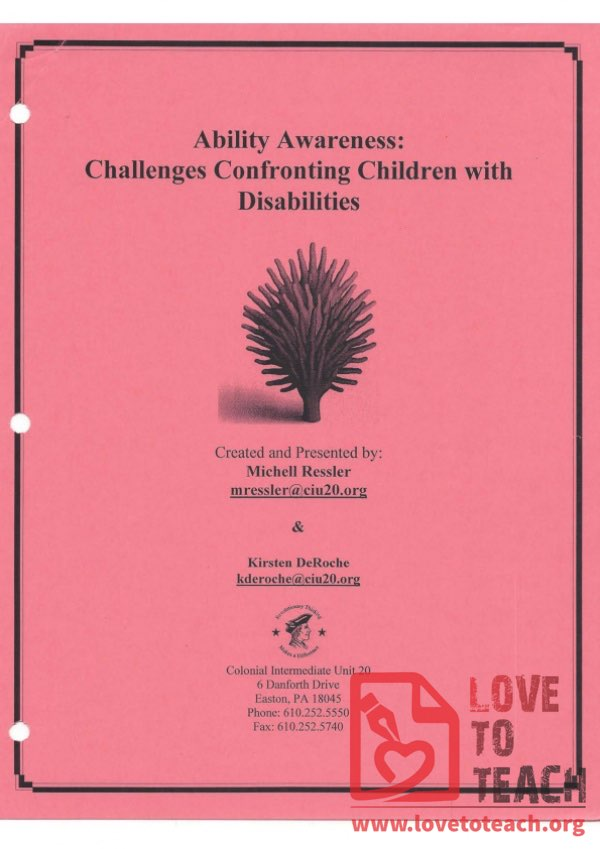 Ability Awareness - Challenges Confronting Children with Disabilities