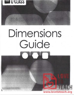 Dimensions Guide - Classroom Assessment Scoring System