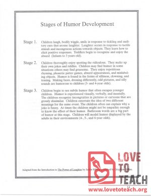 Stages of Humor Development